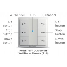 2 Ch Wireless Wall Remote for Radio Motors
