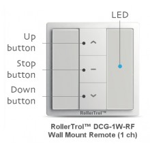 1 Ch Wireless Wall Remote for Radio Motors